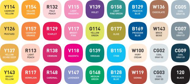 alpha design 36T colors