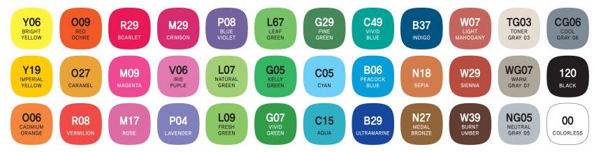 mepxy design 36 basic color