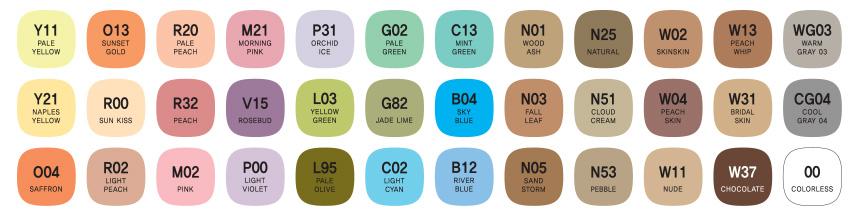 mepxy design 36 pastel color