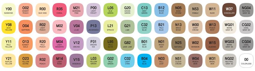 mepxy design 60 pastel color